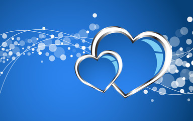 Beautiful blue heart background