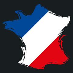 Carte de France Drapeau