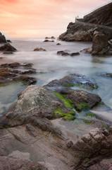 Seascape of the Costa Brava.Llloret de Mar.Catalonia.Spain