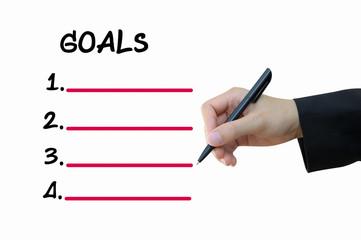 Business hand writing goals
