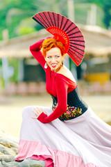 Flamenco Carmen beautiful woman flamenco dancer