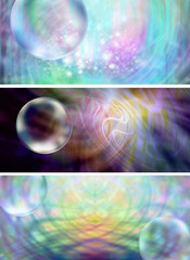 Mystical Bubbles website banner headers