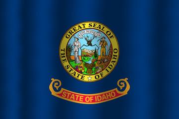 Waving Idaho State Flag