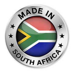 Made In South Africa Silver Badge