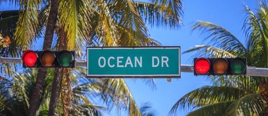 street sign of street Ocean Drive
