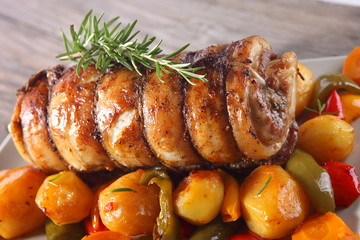 rolled pork with vegetables