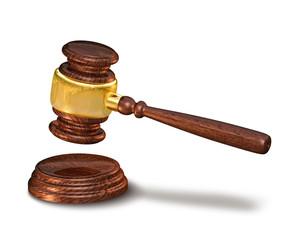 Judges gavel, justice concept