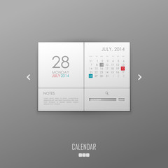Vector calendar template design