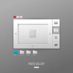 Vector photo gallery template design