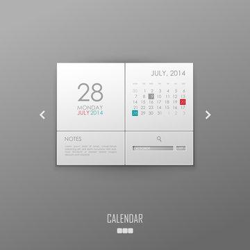 Vector calendar template design