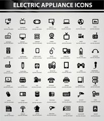 Electronics icon set,vector