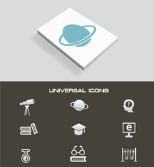 Science universal icon set,vector