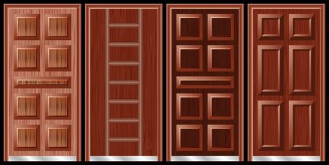 Wooden doors black