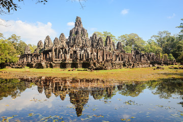 Angkor thom and reflection, siem reap, cambodia