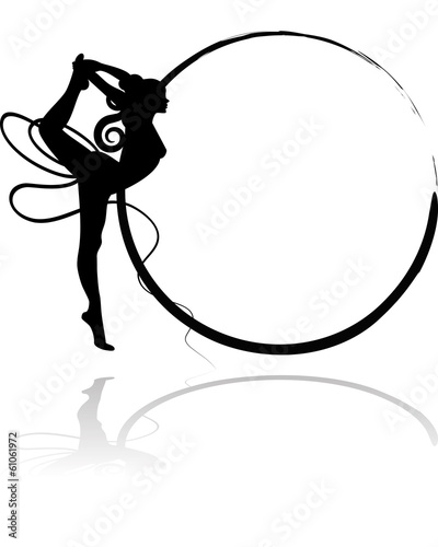 quotlogo ginnastica ritmica nastroquot stock image and royalty