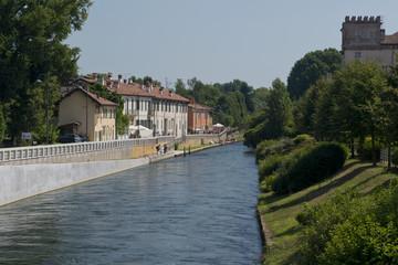 The riverside of Naviglio Grande
