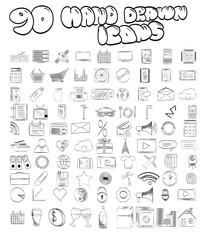 90 Hand Drawn Icons