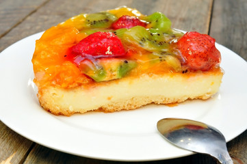 fruit and berry cheesecake