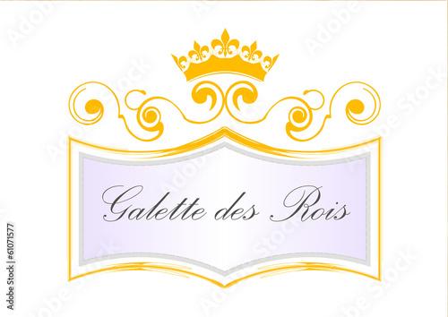 Etiquette galette des rois avec couronne jaune - Image couronne des rois ...