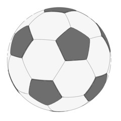 cartoon image of soccer ball