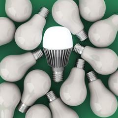 LED and filaments light bulbs