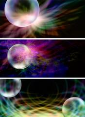 3 x Creative Bubble Website Banner Headers