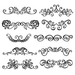 Vector Set: Calligraphic Borders and Page Decoration