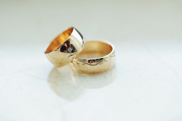 Rings with Elegant Engraving