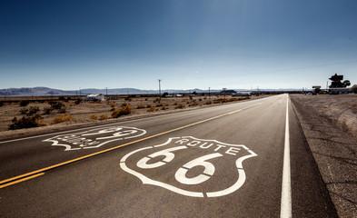 Foto auf AluDibond Route 66 Famous Route 66