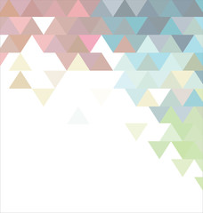 Abstract pastel colors background with triangle