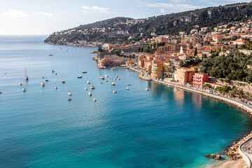 Foto op Canvas Nice Beach of Eze sur mer in south france