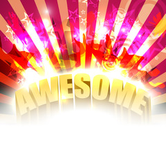 Vector awesome party background