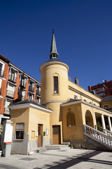 Antique buildings in Madrid.