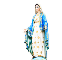 Virgin Mary statue at Roman Catholic Church