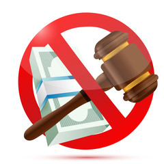 no money and law concept illustration
