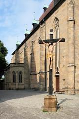 Fototapete - Kreuz auf dem Domberg in Erfurt
