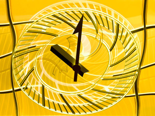 Conceptual view of a railway station clock