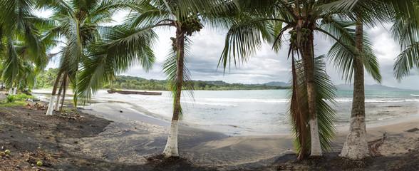 Empty beach in Puerto Viejo, Costa Rica