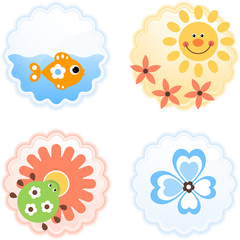 cheerful icons