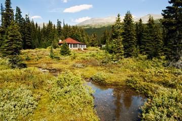 house on the lake shore