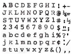 Lubalin graph vintage typrwriter alphabet