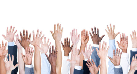 Business Hands up
