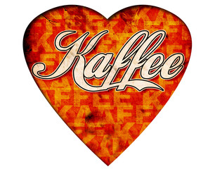 Weisses Herz - Kaffee