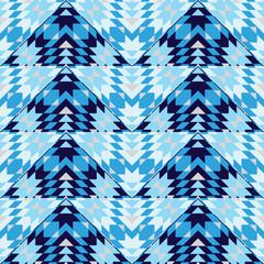 Blue geometric seamless pattern
