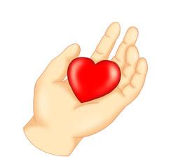 mano con il cuore