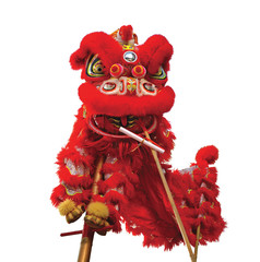 Chinese lion costume used during Chinese New Year celebration