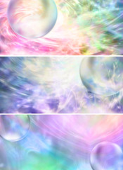 Colourful Bubble Banner Heads