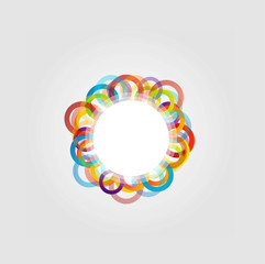 Design element with colorful rings