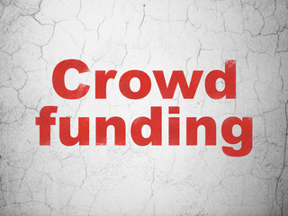 Finance concept: Crowd Funding on wall background