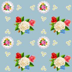Seamless rose pattern